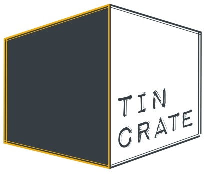 tin crate greyyellow