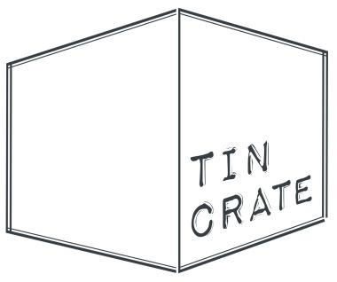 tin crate whitegrey