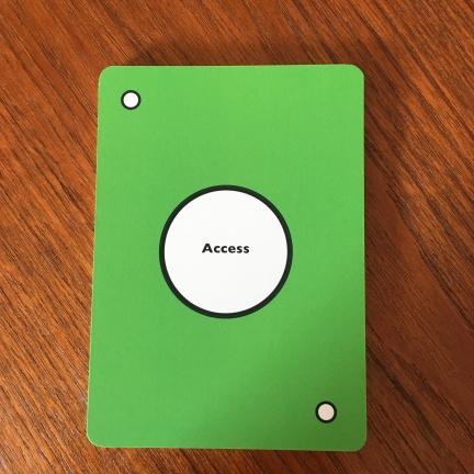 access suite header card